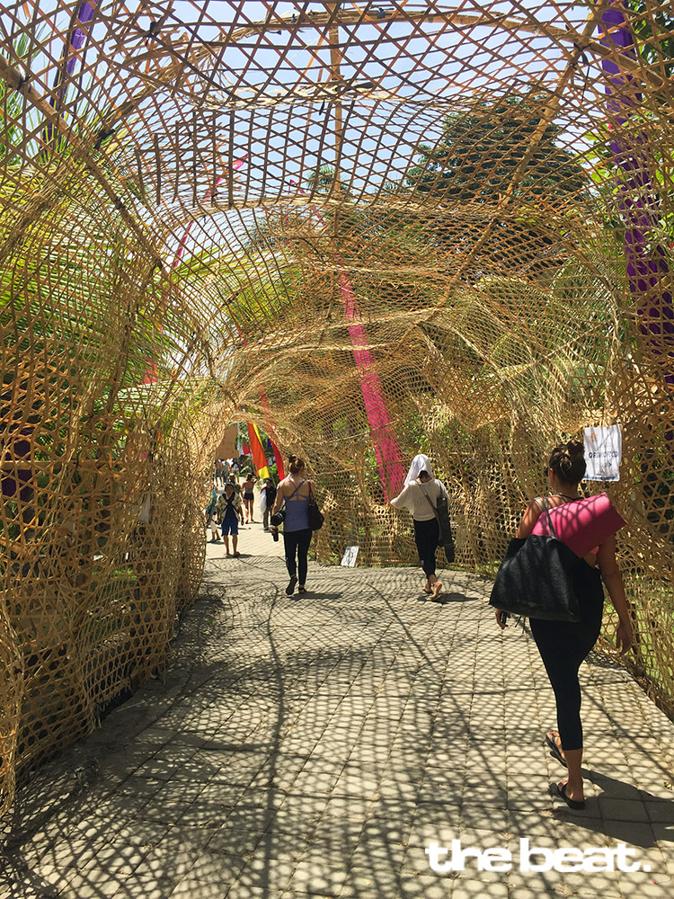 Bamboo entrance to the Bhanuswari Resosrt – the new day time venue of BSF 2016